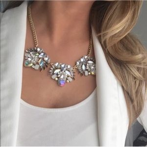 New York & Company iridescent statement necklace